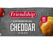 Sajt cheddar vörös lapka szeletelt friendship 1,033kg/84szelet