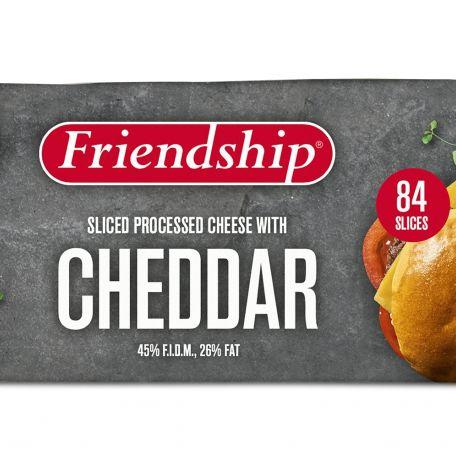 Friendship vörös cheddar sajt szeletelt 1,033kg/84szelet
