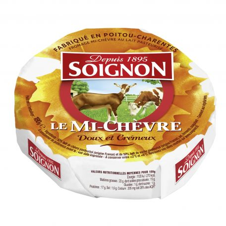 Soignon francia mi-chévre sajt kecske és tehéntejből 180g