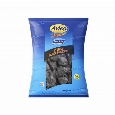 Aviko cheddar sajtfalatok csilipaprikával fekete bundában fagyasztott 1kg