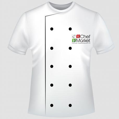 Chef Market emblémázott póló