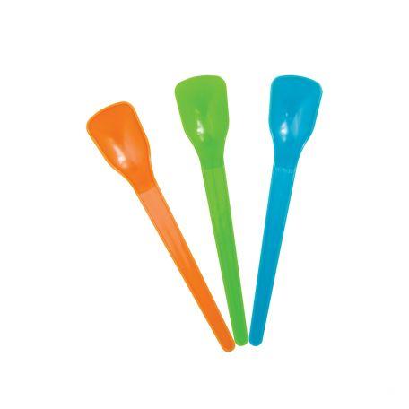 Műanyag színes fagyis kanál 500db/csomag