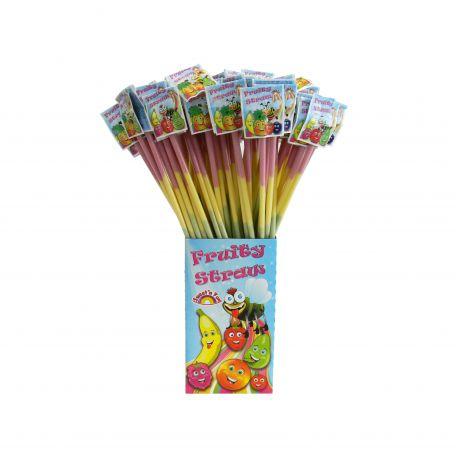 Fruity straws new/140db limonádéporral töltött szívószál