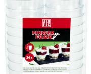 Műanyag fingerfood pohár kicsi alufix 24db/csomag (elo)