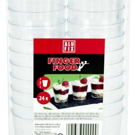 Alufix fingerfood műanyag kicsi pohár 24db/csomag