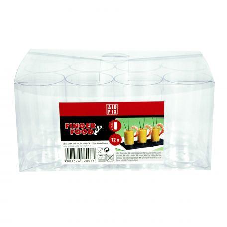 Alufix fingerfood műanyag pohár 7,5cm 12db/csomag