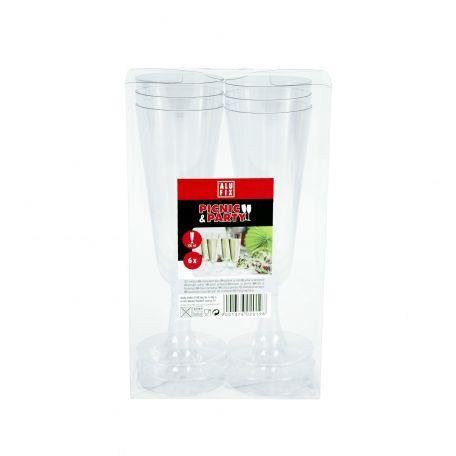 Alufix műanyag pezsgős pohár 6db/csomag