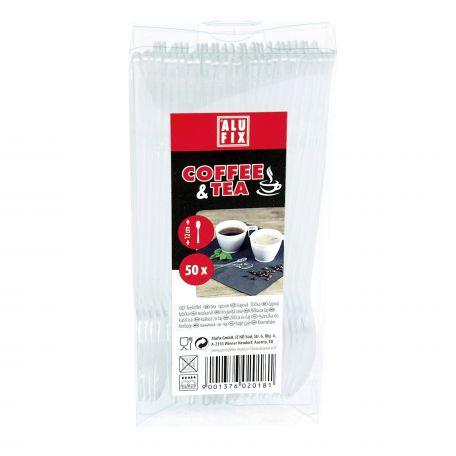 Alufix műanyag kávés-teás kanál 50db/csomag