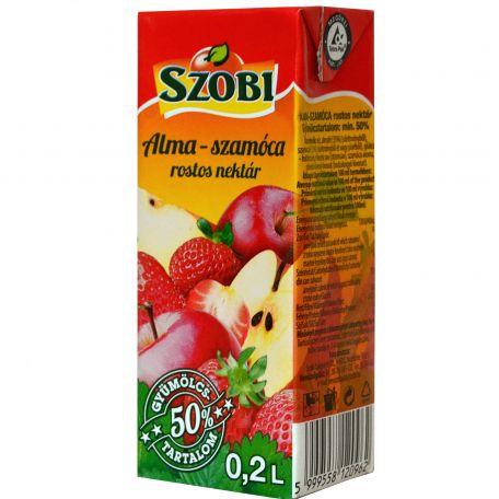 Szobi alma-szamóca üditőital 50% 200ml