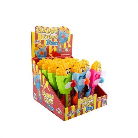 Happy fries fan/ 12db sültkrumpli ventillátor cukorkával