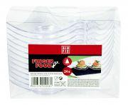 Műanyag fingerfood háromszögletű tányér alufix 24db/csomag (elo)