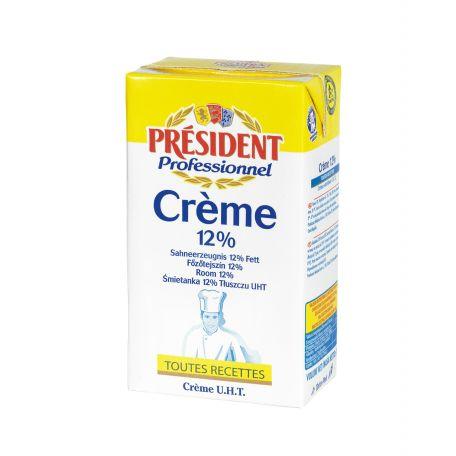Tejszín uht 12% president 1l